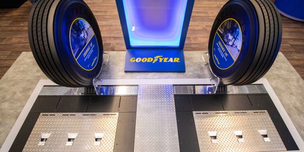 With Goodyear CheckPoint installed at a fleet yard entrance, the in-ground device automatically...