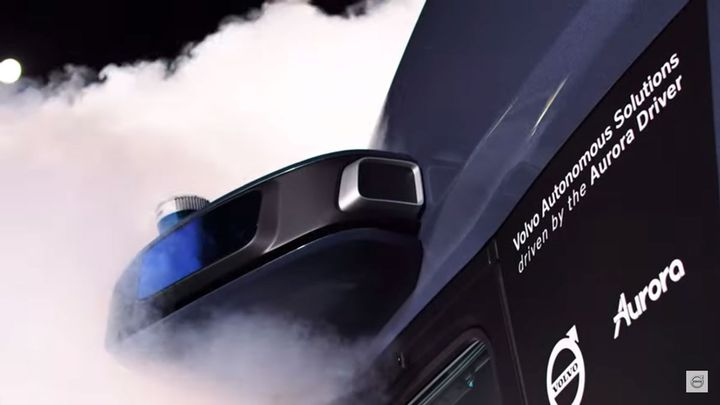 Volvo said this prototype is first to be designed and manufactured to operate with the Aurora Driver. - Photo: Screen capture of Volvo unveil video