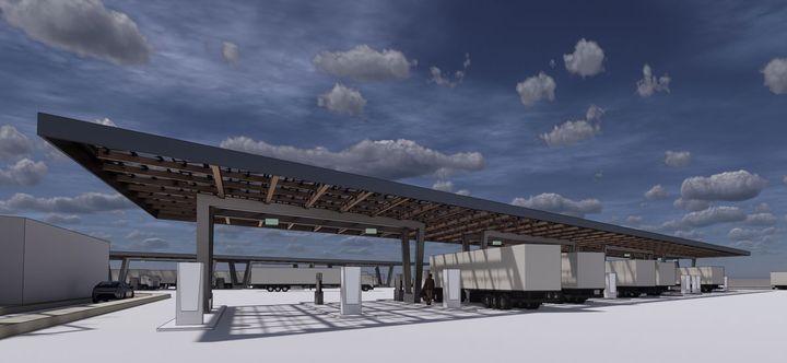WattEV wants to deploy 12,000 electric heavy-duty trucks on the road by 2030. - Photo: WattEV rendering