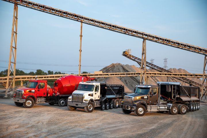 The 47X is approximately 200 pounds lighter than the 49X in like-for-like spec and is best for weight-sensitive applications like mixers and bulk haul. - Photo: Western Star