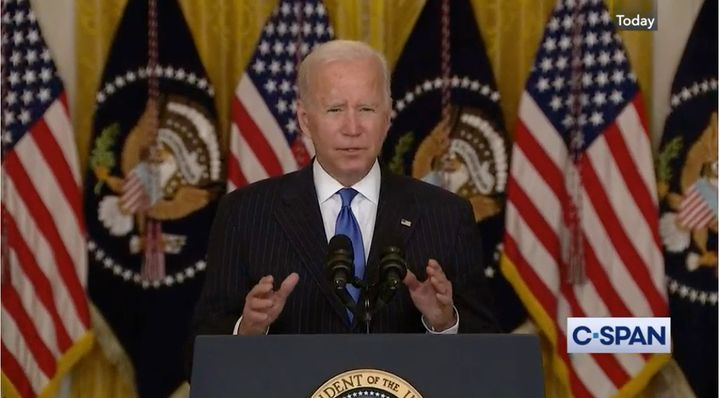 President Biden stressed that this announcement is just the first step in addressing supply chain issues. - C-Span screen capture