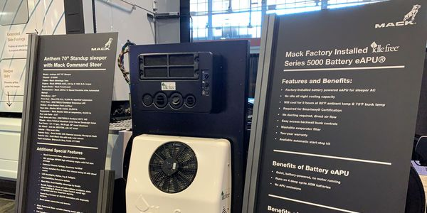 Mack showed off its Anthem and the new Idle Free e-APU option at ATA's conference in Nashville.