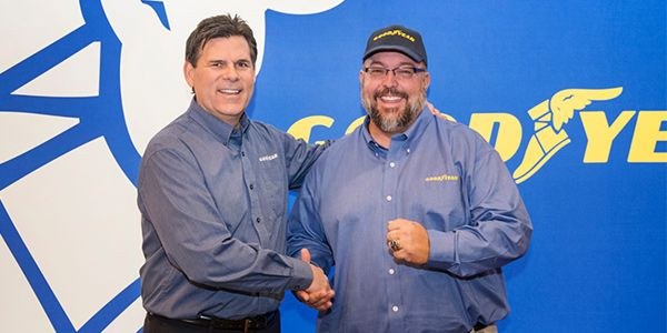 Paul Mathias, a truck driver who stepped in to help a family when their SUV was struck by another vehicle, won the Goodyear Highway Hero Award in 2019. - Photo: Goodyear