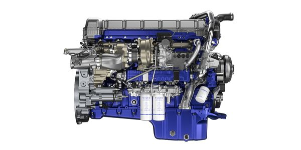 Depending on the operation, the next-generation D13TC engine provides fuel savings up to 6%...