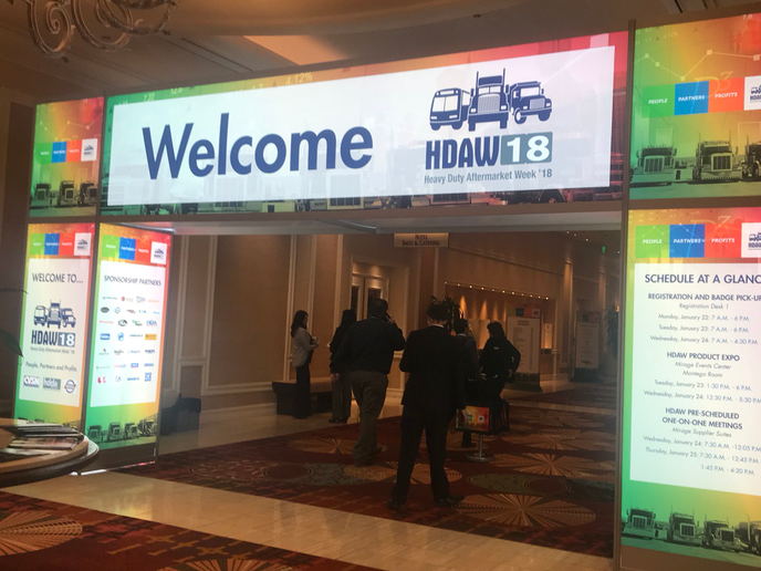 After years in Las Vegas, Heavy Duty Aftermarket Week is moving to a new venue for 2020.  - Photo via HDAW Twitter
