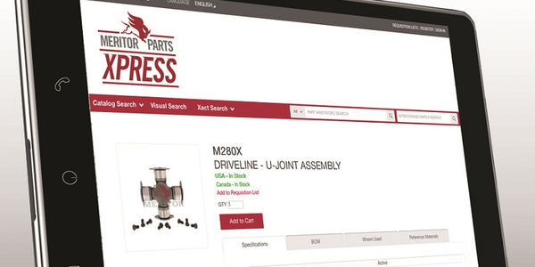 Meritor has added more features and improved search functionality for its aftermarket parts...