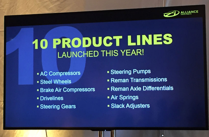 Alliance Truck Parts has been busy adding product lines and plans to offer at least 80.  - Photo by Deborah Lockridge