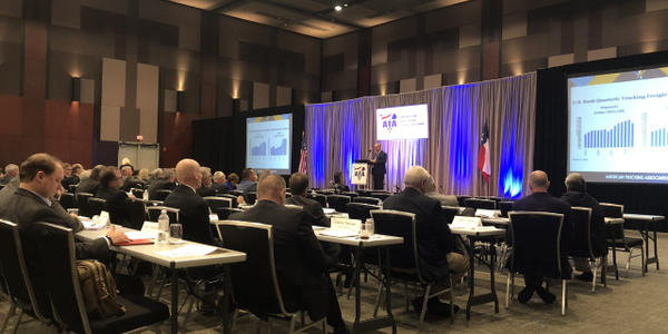 American Trucking Associations Chief Economist Bob Costello offered an economic update as part...