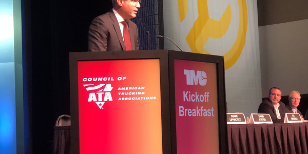 "Speaking at the TMC meeting in Atlanta, ATA chief Chris Spear made a pitch for ""working to..."
