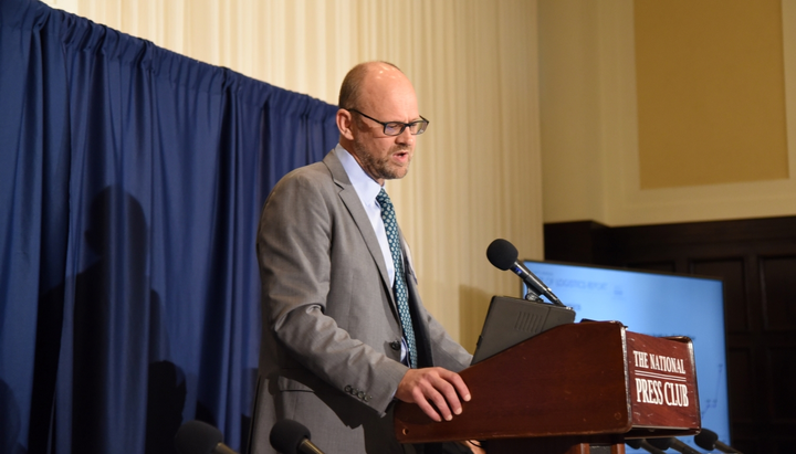 A.T. Kearny's Michael Zimmerman discusses latest State of Logistics Report at National Press Club in Washington, D.C.