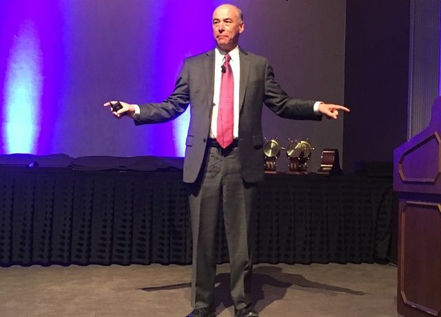 """The vast majority of those in trucking do not understand the impact the rise on e-commerce is having on the freight industry."" - ATRI's Dan Murray, speaking at NPTC. Photo: David Cullen"