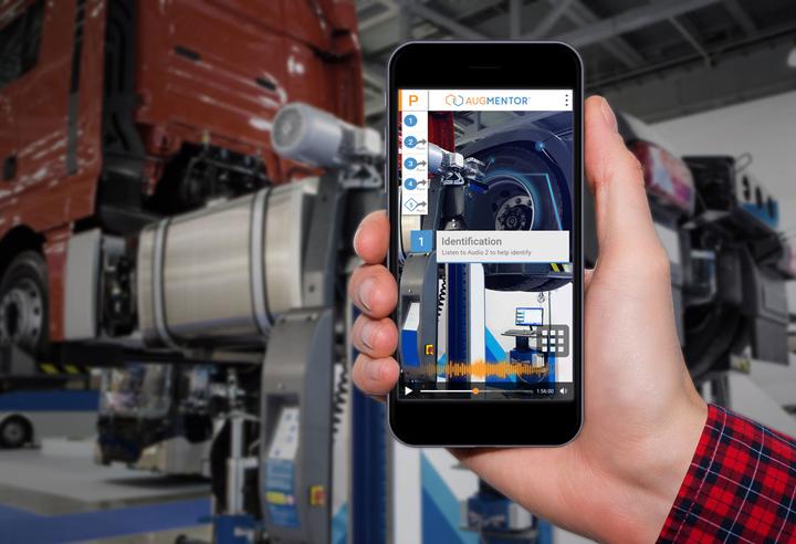 Augmentor AR technician training is now available via smartphone.  - Photo: Design Interactive