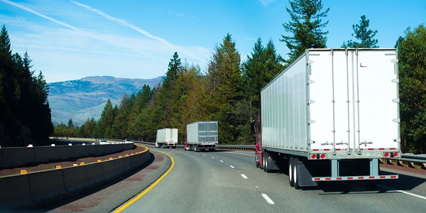 "According to FTR's Eric Starks, the truck freight market outlook will be ""flat through the rest..."
