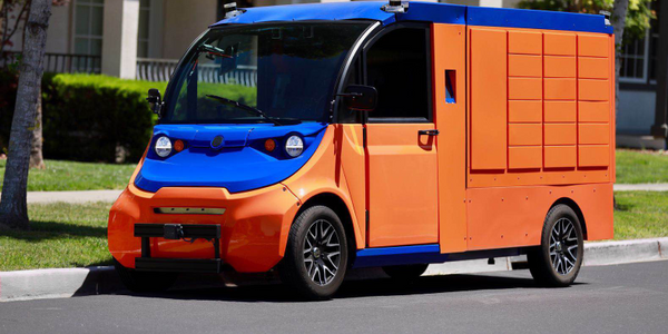 Boxbot's fleet includes two types of autonomous vehicles: parcel delivery vans, and self-driving...