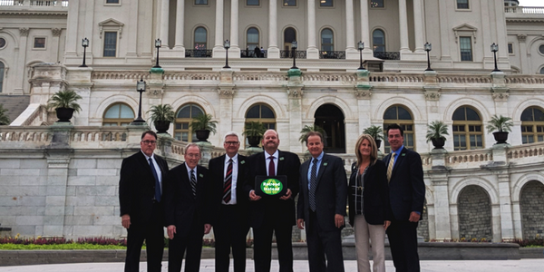 Pictured on Capitol Hill from left to right are Jeffrey Parks-California /RTA, Terry...