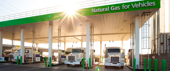 A partnership between Clean Energy Fuels and France's Total SA aims to increase natural gas heavy duty truck usage in the U.S. Photo: Clean Energy Fuels