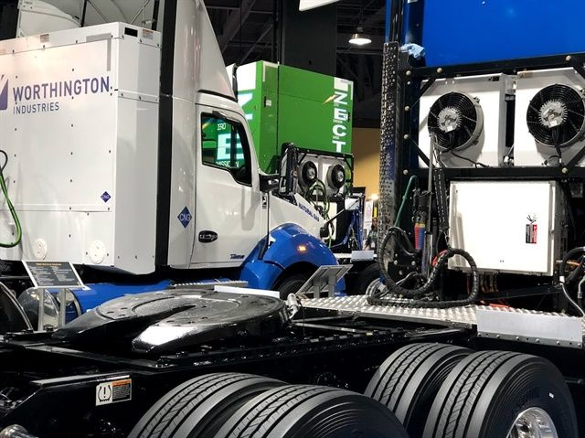 On the show floor, trucks of all types were shown using every conceivable low-emissions technology.