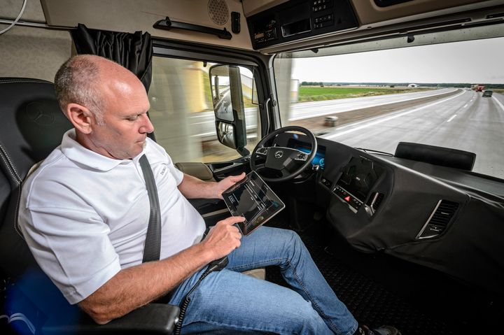FMCSA wants input on regulation of autonomous and automated truck technologies.  - Photo courtesy Daimler Trucks