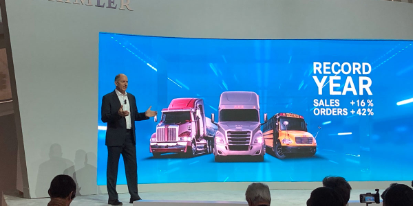 Daimler Trucks North American CEO Roger Nielsen talks truck sales at CES.