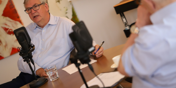 Daimler Truck's chief Martin Daum is the host of a new podcast to discuss diverse topics with...