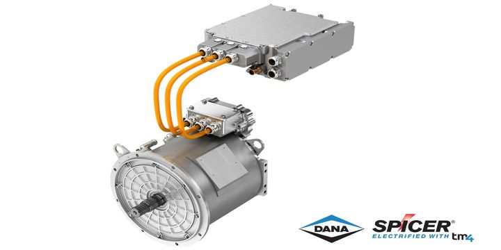 The new TM4 Sumo LD direct-drive electric powertrain is a motor-inverter combination designed for Class 2 through Class 6 commercial vehicles.  - Photo: Dana