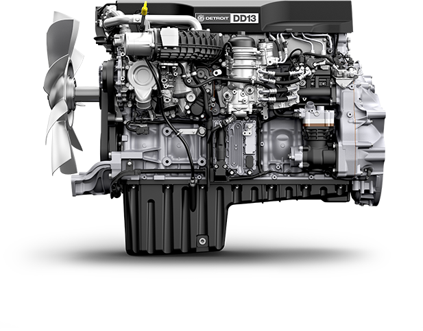 An example of a less than 14L and over 10L engine is the 12.8L Detroit DD13.