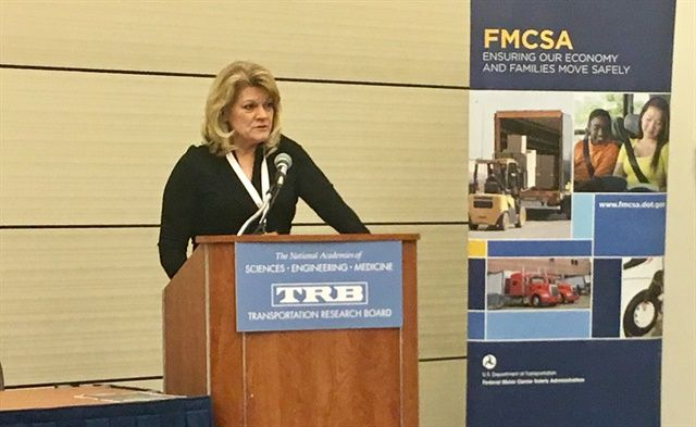 Cathy Gautreaux speaking at an FMCSA meeting in Washington in January, 2018. - Photo: David Cullen