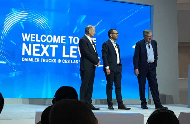 Daimler officials talk automation at CES.  - Photo by Jim Park