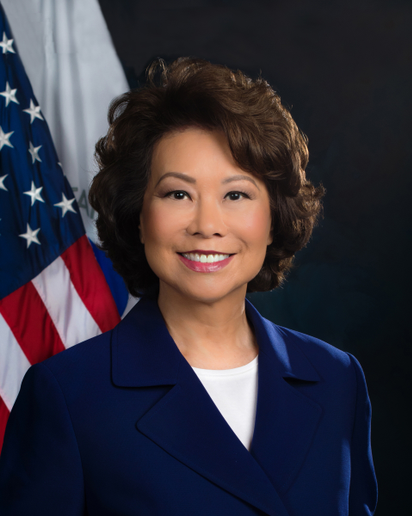 U.S. DOT Secretary Elaine Chao billed a new internal deliberative body tasked with identifying and resolving jurisdictional and regulatory gaps that may impede the deployment of new technology, such as tunneling, hyperloop, autonomous vehicles, and other innovations during remarks at the South by Southwest (SXSW) conference in Austin, Texas, in March. 