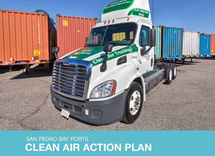 The next step in the Clean Air Action Plan at Ports of Los Angeles and Long Beach will be to require all newly registering trucks to be model-year 2014 or newer.