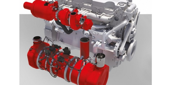 Cummins concept emissions reduction suite combines several technologies to reduce NOx and...