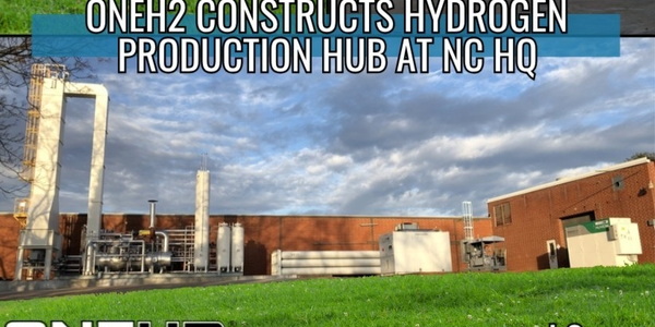 OneH2 has completed the first stage of a planned fully dedicated hydrogen fuel plant for the...