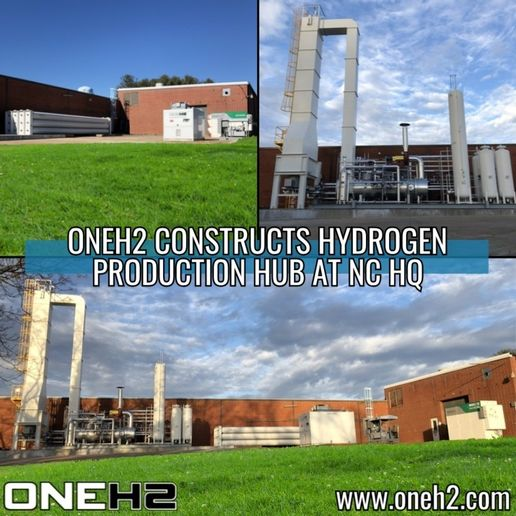 OneH2 has completed the first stage of a planned fully dedicated hydrogen fuel plant for the East Coast. - Image courtesy OneH2