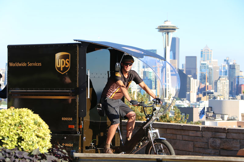 UPS Testing Cargo eBikes in Seattle