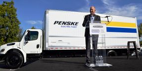 Daimler Delivers Electric eM2 Truck to Penske Truck Leasing