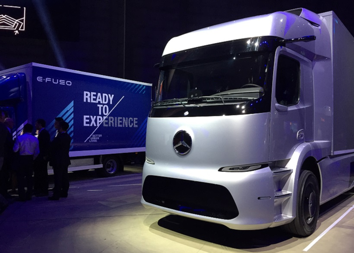 The eActros concept truck are designed for practical use and a realistic payload, according to Martin Zeilinger, head of advanced engineering at Merceds-Benz Trucks. 