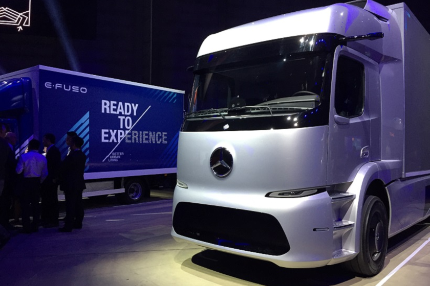 The eActros concept truck are designed for practical use and a realistic payload, according...