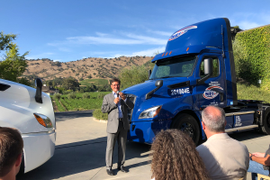 Freightliner Delivers First eCascadia Electric Trucks
