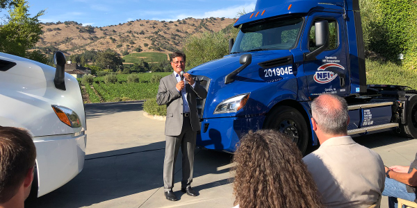 Richard Howard, vice president of sales and marketing for Daimler Trucks North America, spoke at...