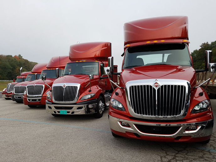 Navistar officials said the new International LT is driving an increase in Class 8 market share.  - Photo by Jim Park