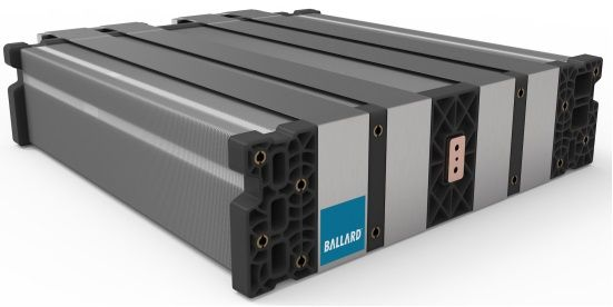 Ballard Power Systems' FCGen-LCS heavy-duty liquid cooled stacks, designed to deliver long-term performance and low total lifecycle cost, feature reusable, low-cost carbon plates in a compact stack design. - Photo via Ballard Power Systems
