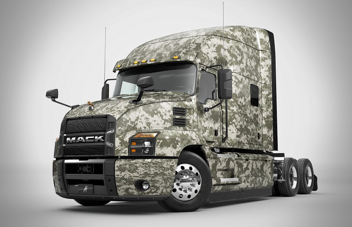 Mack Trucks donated a custom Mack Anthem truck to American Trucking Associations in an effort to bring in military veterans to the trucking industry.