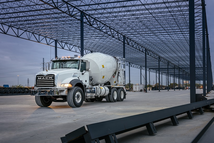 The Mack Granite is now available with a pre-wire option for the Lytx DriveCam video telematics system.  - Photo courtesyMack Trucks