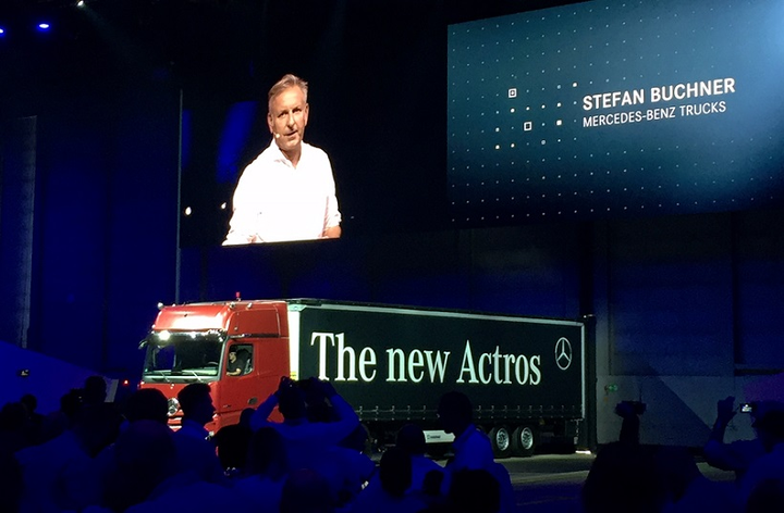 Mercedes-Benz Trucks head Stefan Buchner introduces the new Mercedes-Benz Actros. It has more than 60 new features, some of which could well make their way into North American trucks in the future