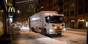 Smart Hybrid Trucks to Silently Deliver to McDonald's Locations in Stockholm
