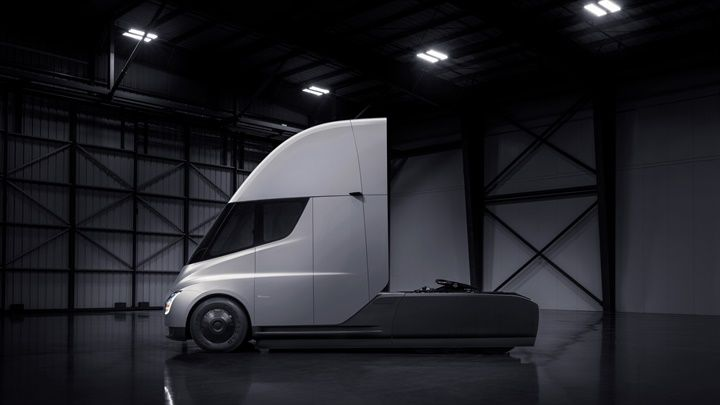 Electric commercial vehicles, like Tesla's upcoming electric Semi, could see significant increases in market share the next few decades, but conventional trucks will continue to play a major role in fleet, regardless of the latest craze, and shouldn't be ignored - Photo via Tesla