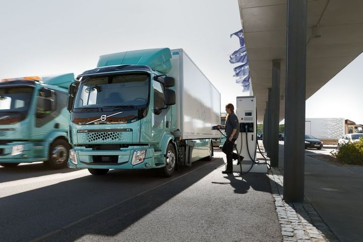 Volvo has delivered two FL Electric trucks to customers in Sweden, one spec'd for distribution and the other for refuse duty.  - Photo courtesy Volvo Trucks