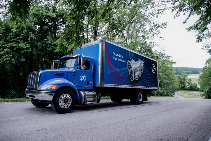 A truck equipped with a PowerLine 8 and loaded to about 37,000 pounds had no trouble at all launching from a dead stop on a 23% grade. It even managed to shift from first to second gear.