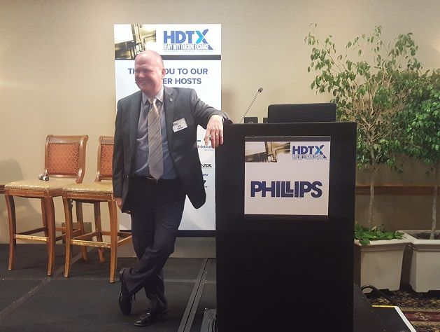 Eric Starks, CEO of FTR, speaks at the 2018 HDTX conference in Scottsdale, Arizona. Photo: Stephane Babcock