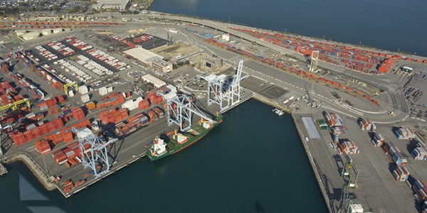 A new California law would hold retailers liable for working with port trucking companies that...